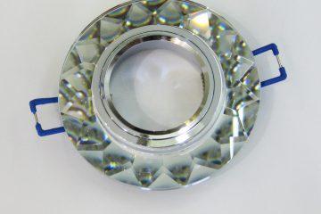 Светильник Ecola MR16, гранёный, Хром/ Хром