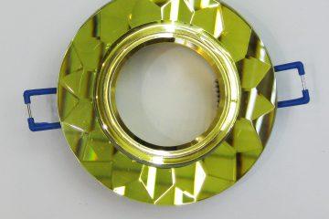 Светильник Ecola MR16, гранёный, Золото/ Золото