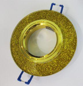 Светильник Ecola MR16, гранёный, Золотой блеск/ Золото