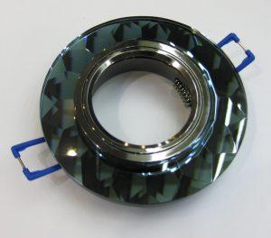 Светильник Ecola MR16, гранёный, Чёрный/ Чёрный хром