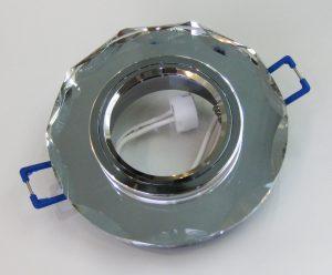 Светильник Ecola MR16, с вогнутыми гранями, Хром/ Хром