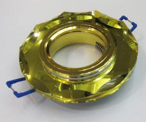 Светильник Ecola MR16, с вогнутыми гранями, Золото/ Золото
