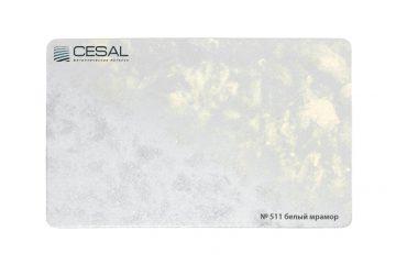 Рейка, вставка, П-образный профиль №511 Белый мрамор