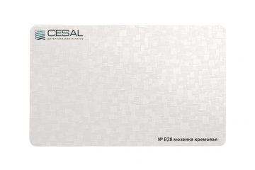 Рейка, вставка, П-образный профиль №В28 Мозаика кремовая