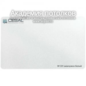 Вставка S-25 (жемчужно белая глянцевая) С01