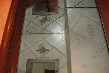 Зеркальный потолок в ванной комнате подвесная система суперхром