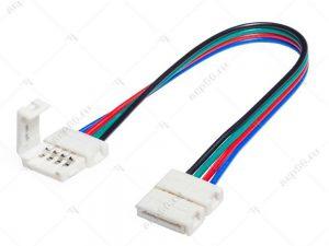 Ecola LED strip connector соед. кабель с двумя 4-х конт. зажимными разъемами 10mm 15cm