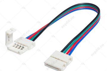 Соединительный кабель (Коннектор) с двумя 4-х контактными зажимными разъемами 10 мм (Переходник)