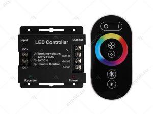 Ecola LED strip RGB RF controller 24A 288W 12V (576W 24V) с кольцевым сенсорным радиопультом