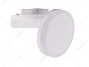 Лампа светодиодная 6 Вт GX53 2800К таблетка матовое стекло