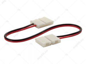 Ecola LED strip connector соед. кабель с двумя 2-х конт. зажимными разъемами 10mm 15cm