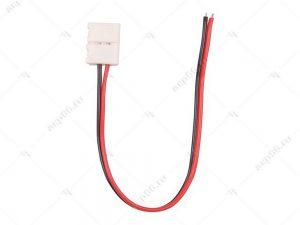 Ecola LED strip connector соед. кабель с одним 2-х контактным зажимным разъемом 10mm 15cm