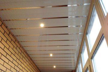 Потолки на балконе и лоджии