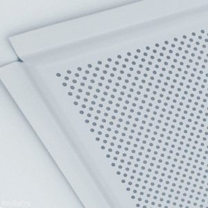 Кассета алюминиевая перфорация кромка Лайн цвет Белый матовый