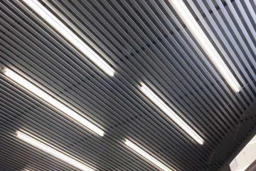 Потолок из вставок в кабинете. Вставка металлик - 2