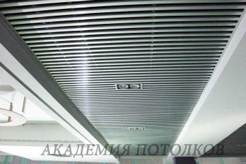 Потолок из вставок. Вставка металлик - 3