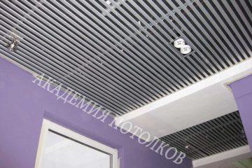 Потолок из вставок. Вставка металлик - 7
