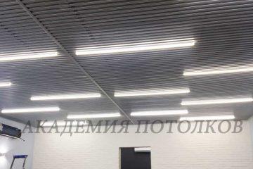 Потолок из вставок. Вставка металлик - 6