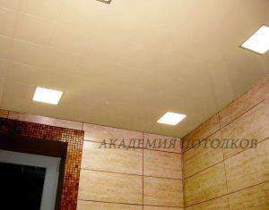 Потолок в ванной кассетный. Кассета В18 светлая рогожка. Спеццена!