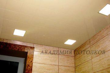 Потолок в ванной кассетный . Кассета В18 светлая рогожка. Спец.цена!
