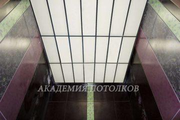 Потолок в ванную из акрила.Размер плиты 20х60см на чёрной подвесной системе.Спец.цена!