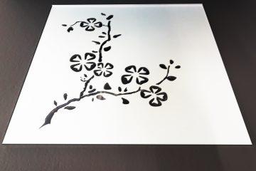 Декор № 005/2 295×295 мм (Серебро) матовый фон «Сакура»