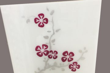 Декор № 005/2 595×595 мм цветная «Сакура»