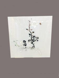"""Декор № 005/2 595x595 мм (Серебро) матовый фон/зеркальный рисунок """"Сакура"""""""