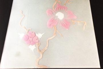 Декор № 010 Орхидея (цветная) 295×295 мм