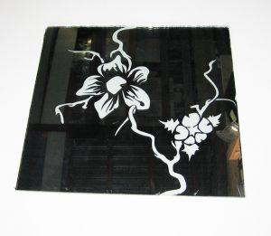 """Декор №010/1 295х295 мм (Серебро) зеркальный фон """"Орхидея"""""""