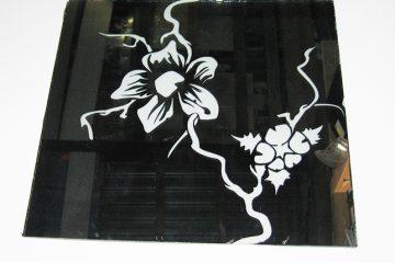 Декор № 010/1 295×295 мм (Серебро) зеркальный фон «Орхидея»