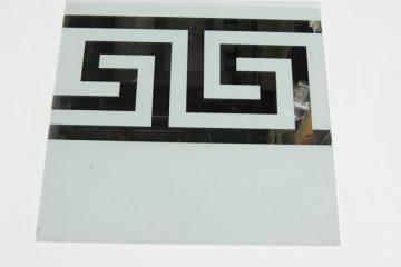 Орнамент № 0105/1 295×295 мм (Серебро) Прямой элемент матовый фон «Греция»
