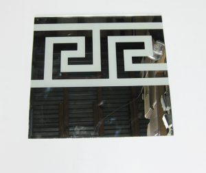 """Орнамент № 0105/1 295×295 мм (Серебро) Прямой элемент зеркальный фон """"Греция"""""""