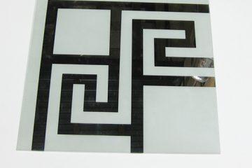 Орнамент № 0105/1 295×295 мм (Серебро) Угловой элемент матовый фон «Греция»