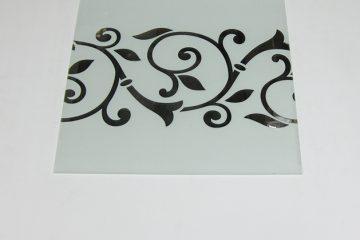 Орнамент № 0117/2 295×295 мм (Серебро) Прямой элемент матовый фон
