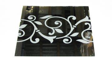 Орнамент № 0117/1 295×295 мм (Серебро) Прямой элемент зеркальный фон