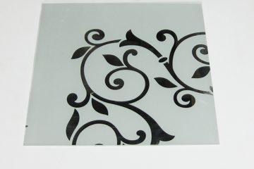 Орнамент № 0117/2 295×295 мм (Серебро) Угловой элемент матовый фон