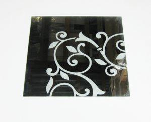 Орнамент № 0117/1 295×295 мм (Серебро) Угловой элемент зеркальный фон