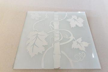 Орнамент № 0125/2 295×295 мм (Серебро) Прямой элемент матовый фон «Бамбук»