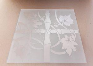 """Орнамент № 0125/2 295×295 мм (Серебро) Угловой элемент матовый фон """"Бамбук"""""""