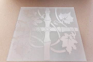 Орнамент № 0125/2 295×295 мм (Серебро) Угловой элемент матовый фон «Бамбук»
