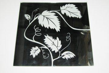Орнамент № 0131/1 295×295 мм (Серебро) Угловой элемент зеркальный фон «Лоза»
