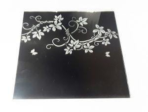 """Орнамент № 0135/1 295×295 мм (Серебро) Прямой элемент зеркальный фон """"Вьюн"""""""