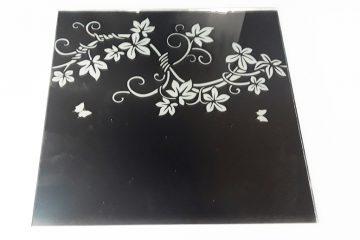 Орнамент № 0135/1 295×295 мм (Серебро) Прямой элемент зеркальный фон «Вьюн»