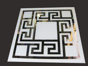 """Декор № 028/2 595x595 мм (Серебро) матовый фон/зеркальный рисунок """"Греция"""""""
