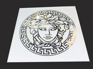 """Декор № 036/2 595x595 мм (Серебро) матовый фон/зеркальный рисунок """"Версаче"""""""