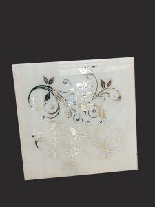 """Декор № 039/2 595x595 мм (Серебро) матовый фон/зеркальный рисунок """"Узор"""""""