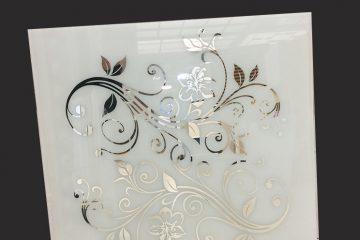 Декор № 039/2 595×595 мм (Серебро) матовый фон/зеркальный рисунок «Узор»