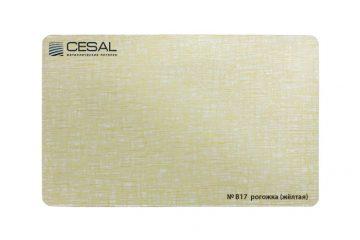 Рейка Cesal 100×3000 мм № В17 «Рогожка жёлтая»