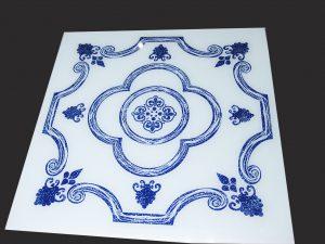 Декор под плитку 595x595 мм (синий)